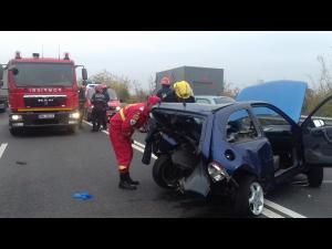 FOTO Accident la Chitorani. Trei masini sunt implicate
