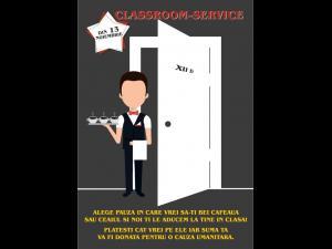 Classroom-service, la Sinaia pentru o cauza nobila