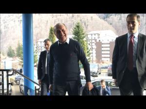 Consiliul National al PMP, la Sinaia. Ce a declarat președintele de onoare al partidului, Traian Băsescu - VIDEO