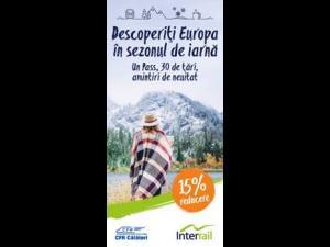 Reduceri de 15% la calatoriile cu trenul in Europa