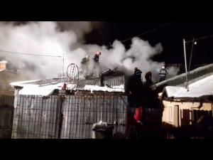 Trei case au ars in Ploiesti din cauza unui scurtcircuit
