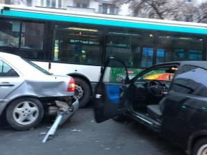 Trafic ingreunat in zona Tatarani din cauza unui accident