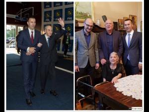 Mircea Ionescu Quintus, marele senior al Partidului Național Liberal, ar fi împlinit, astăzi, 102 ani. Iulian Dumitrescu, președintele PNL Prahova, a vizitat-o pe soția celui care este un reper pentru toți liberalii