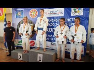 """Judoka Vanessa Tolea, medalie de aur la Campionatele Balcanice """"U15"""", de la Skopje!"""