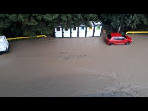 IMAGINI Potop la Sinaia