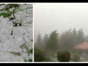 Cod galben de vreme severa in zona de munte a judetului Prahova. Se anunta vijelii si grindina