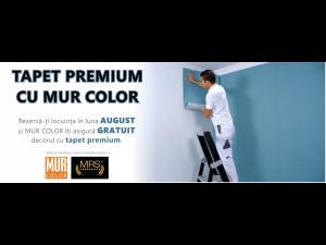 La rezervarea unei locuințe în cadrul MRS Residence SMART din Ploiești veți avea luna aceasta inclus decorul din tapet, asigurat de MUR Color-creator de interior și exterior, vopsele și tapet premium