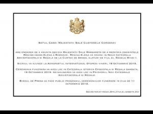 Când va avea loc reînhumarea Reginei-mamă Elena a României