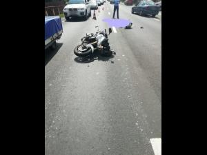 Un pieton a murit după ce a fost lovit de un motociclist, în Comarnic