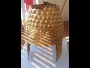 Coiful din aur de la Cotofenesti, adus pentru o zi la Varbilau