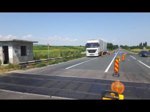 Trafic restricționat pe DN1A  în comuna Măgurele