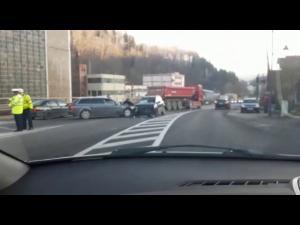 FOTO Accident în Sinaia/O persoană a fost transportată la spital
