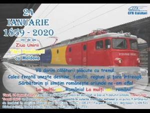 Trenul Unirii care face legătura între București și Iași pe 24 ianuarie are stație și în Ploiești