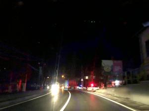 Trafic dirijat pe DN1, in zona Comarnic, din cauza unui accident -FOTO