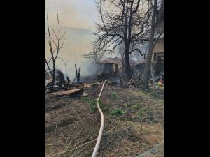 FOTO: Incendiu la o casa din Posesti