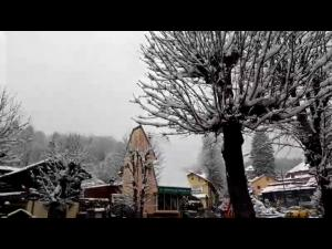 VIDEO Ninge la munte, în Prahova.