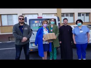 Ajutoare pentru personalul medical din Prahova din partea Fratiei Ortodoxe Sf. Mare Mucenic Gheorghe purtatorul de Biruinta si Protoieriilor Ploiesti si Valenii de Munte!