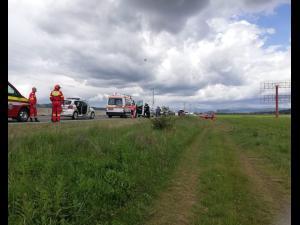 UPDATE Accident  grav în Bănești/Sunt implicate trei autoturisme dintre care un autoturism MAI