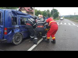 Accident pe DN 1A, Centura de Est a Ploieștiului/O persoană a fost dusă la spital
