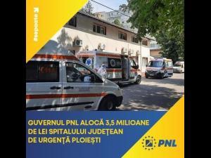Senatorul PNL Iulian Dumitrescu a anuntat ca Guvernul a alocat 3,5 milioane de lei Spitalului Judetean de Urgenta Ploiesti