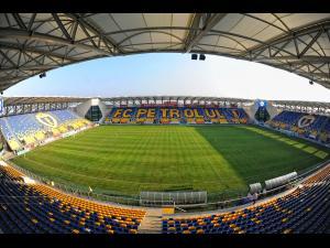 """Fortele de ordine, prezente in apropierea Stadionului """"Ilie Oana"""" in timpul meciului Romania-Austria"""