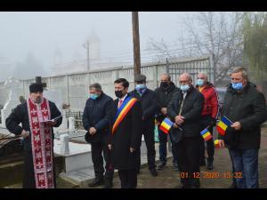 FOTO: Ziua Romaniei, sarbatorita in conditii de pandemie, la Gorgota