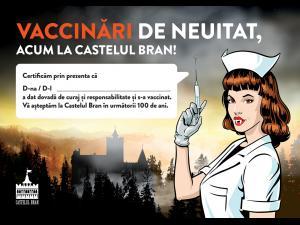Castelul Bran va găzdui un maraton special de vaccinare, timp de o lună, în perioada weekend-urilor