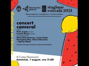 Concert cameral, duminică, 1 august, de la ora 11.00, în curtea Filarmonicii ploieștene
