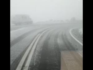A nins pe Transfagarasan - VIDEO