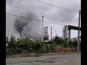 Alerta in Ploiesti! Incendiu la Lukoil!