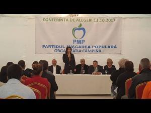 Viceprimarul municipiului Câmpina, Ioan Adrian Pițigoi, a fost ales președinte al organizației PMP din localitate