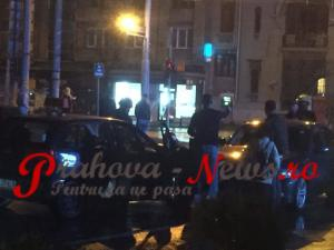 Accident rutier, in centrul Ploiestiului. Doua persoane ranite - FOTO