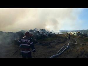 Incendiu la groapa de gunoi, la Boldesti. Pompierii au intervenit toata noaptea
