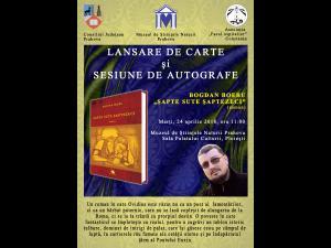 Prezentare de carte și sesiune de autografe, la Palatul Culturii din Ploiești