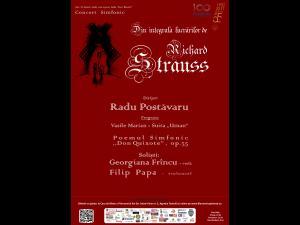 """CONCERT SIMFONIC  din ciclul """"Integrala lucrărilor de Richard Strauss"""", la filarmonica ploiesteana"""