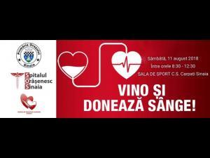 Sinaienii salveaza vieti. Inca o campanie de donare de sange in Perla Carpatilor