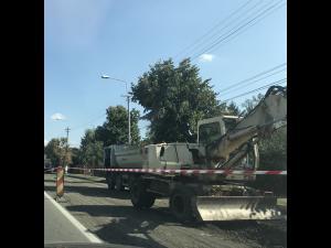 Lucrari de reparații – betonare pe strada Poligonului