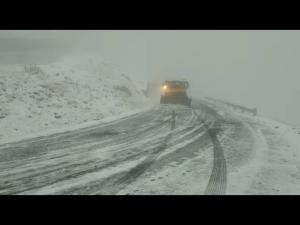 A nins la munte. Unde au actionat drumarii