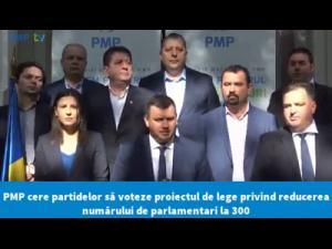 PMP cere supunerea în dezbatere, în regim de urgență, a proiectului PMP cu privire la reducerea numărului de parlamentari