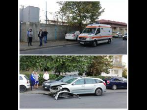 FOTO - Doua persoane ranite intr-un accident pe Strada Sondelor din Ploiesti