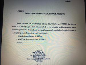 Tarife modificate pentru eliberarea permiselor de conducere și certificatelor de înmatriculare