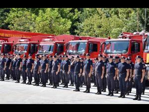 Pompierii români, într-o nouă misiune de sprijinire a Greciei în lupta cu incendiile