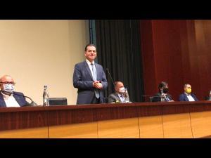 VIDEO: Ludovic Orban și-a prezentant la Ploiesti moţiunea de candidatură la preşedinţia PNL