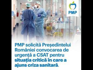 Partidul Mișcarea Populară solicită Președintelui României convocarea de urgență a CSAT