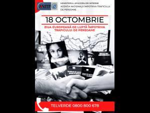 Acțiuni care marchează Ziua Europeană de Luptă Împotriva Traficului de Persoane – 18 octombrie