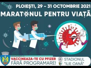 Se apropie maratonul de vaccinare anti-Covid-19 organizat de Primăria Ploiești