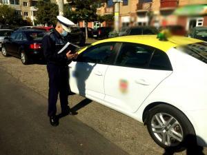 Taxi-urile din Prahova, verificate de politisti